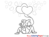 Lovers for Kids Valentine's Day Colouring Page