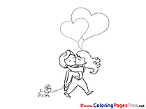 Lovers Valentine's Day Coloring Pages download