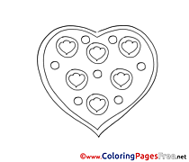 Picture Heart printable Valentine's Day Coloring Sheets