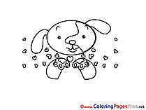 Puppy Hearts printable Valentine's Day Coloring Sheets