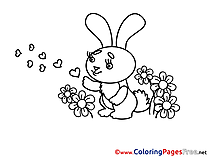 Ribbon download Valentine's Day Coloring Pages