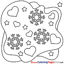 Snowflakes Coloring Sheets Valentine's Day free