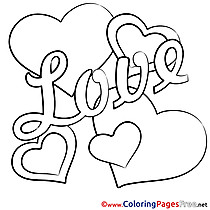 Valentine's Day Hearts Coloring Pages free