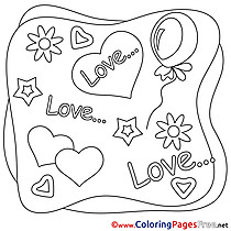 Valentine's Day Hearts free Coloring Pages