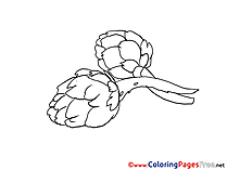 Children Coloring Pages free Vegetables