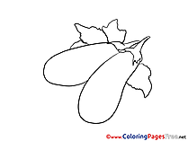 Eggplants free Colouring Page download