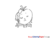 For free Coloring Pages Tomato download