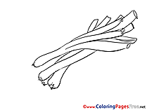 Leek printable Coloring Pages for free