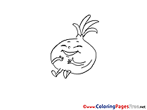 Onion for free Coloring Pages download