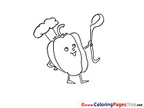 Paprika Colouring Page printable free
