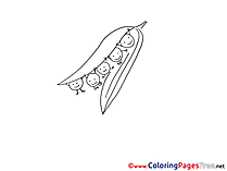 Peas Children download Colouring Page