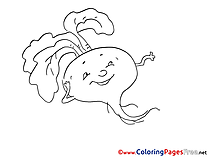 Radish free Colouring Page download