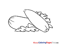Zucchini Coloring Pages for free