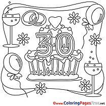 30 Years Wedding Coloring Pages download for free