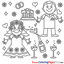 Anniversary download Colouring Sheet free