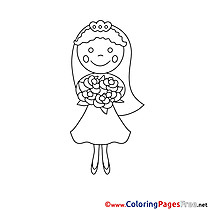 Bride Bouquet free Coloring Pages for Children