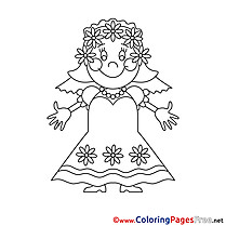 Bride Wedding Coloring Sheets download free