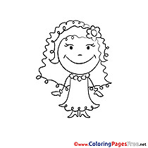 Bride Wedding printable  Coloring Pages for free