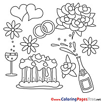 Celebration Wedding Coloring Sheets download free