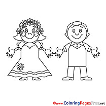 Celebration Wedding free printable Coloring Sheets