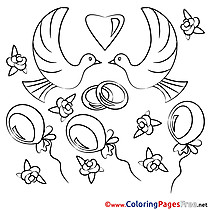 Celebration Wedding printable Colouring Page for Kids