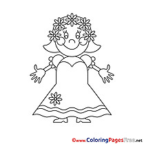 Dress Wedding Bride Colouring Page printable free