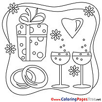 Gift Wedding Coloring Pages download for free