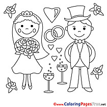 Love Newlyweds Coloring Pages free for Children