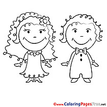 Marriage printable Coloring Sheets download