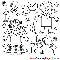 Newlyweds download Colouring Page for Children