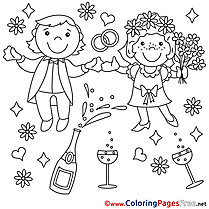 Newlyweds  printable Coloring Sheets for Free