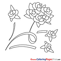 Rose Wedding download printable Coloring Pages