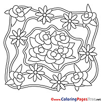 Roses Wedding download  Coloring Pages for Kids