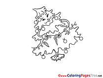 Christmas Tree Winter Coloring Pages download