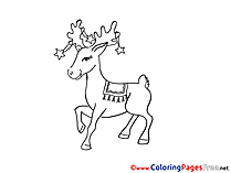 Deer Winter Colouring Sheet free
