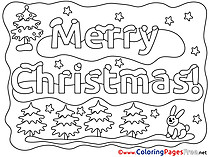 Merry Christmas Winter Coloring Pages free
