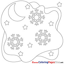 Snowflakes Winter free Coloring Sheets
