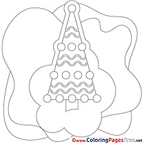 Tree Winter Coloring Page for Kids