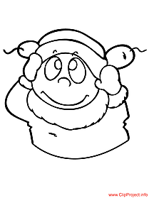 Winter colouring page for free