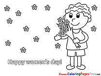 Bouquet download Women's Day Coloring Pages
