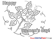 Rose Coloring Pages Women's Day for free