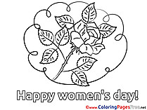 Rose Kids Women's Day Coloring Pages