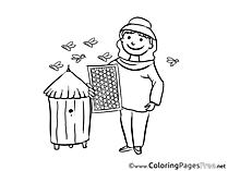 Beekeeper Kids download Coloring Pages