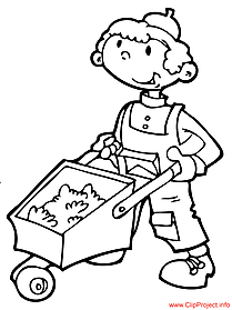 Builder coloring page free