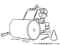 Bulldozer Operator for free Coloring Pages download