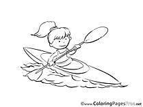 Canoeist free printable Coloring Sheets