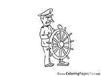 Captain download Colouring Sheet free