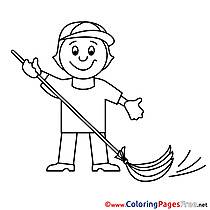 Caretaker download Colouring Sheet free