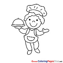 Chef Kids download Coloring Pages