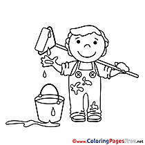 Children Coloring Pages free Painter